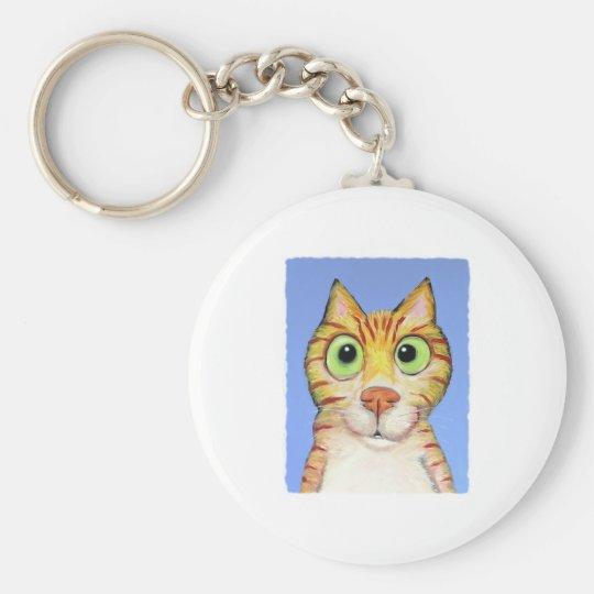 Acose el gato llavero redondo tipo pin