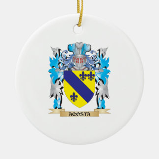 Acosta Coat Of Arms Christmas Tree Ornament