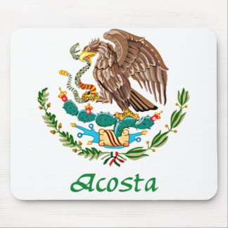 Acosta Mexican National Seal Mouse Pad