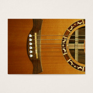 Acoustic 6 String Guitar Business Card