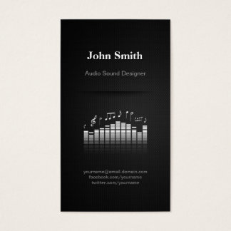 Acoustic Audio Sound Designer Engineer Director Business Card