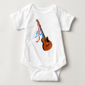 Acoustic Bass Guitar American Music Baby Bodysuit