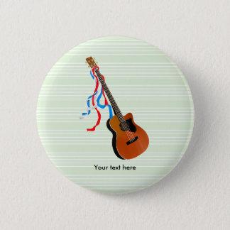 Acoustic Bass Guitar American Music Button