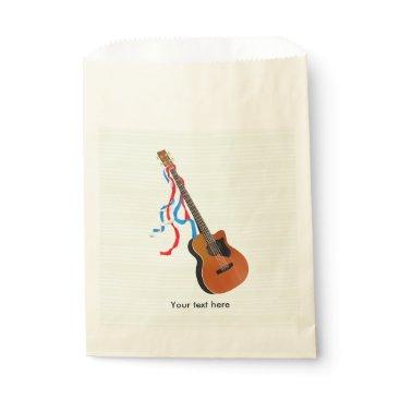 USA Themed Acoustic Bass Guitar American Music Favor Bag