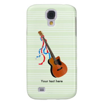 USA Themed Acoustic Bass Guitar American Music Galaxy S4 Case