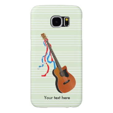USA Themed Acoustic Bass Guitar American Music Samsung Galaxy S6 Case