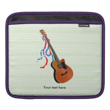 USA Themed Acoustic Bass Guitar American Music Sleeve For iPads