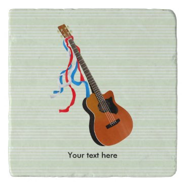 USA Themed Acoustic Bass Guitar American Music Trivet