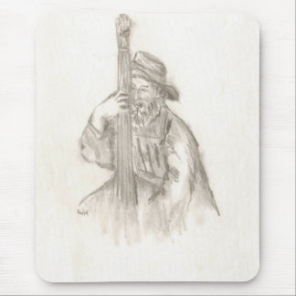 Acoustic bass player mousepad