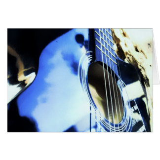acoustic blues greeting card