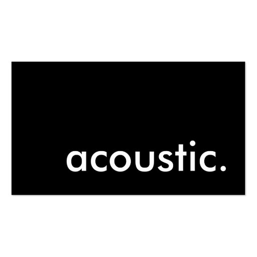 acoustic. business card template