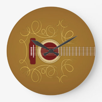 Acoustic Classic Guitar Large Clock