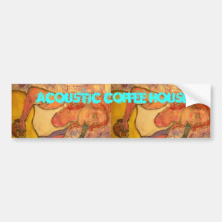 Acoustic Coffee House Bumper Sticker