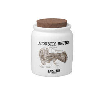 Acoustic Drums Inside (Anatomy Of Human Ear) Candy Jars