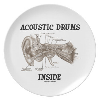 Acoustic Drums Inside (Anatomy Of Human Ear) Dinner Plate