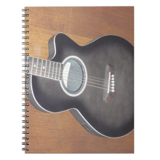Acoustic Electric Guitar Spiral Notebook