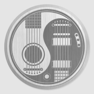 Acoustic Electric Guitars Yin Yang Stainless Steel Classic Round Sticker