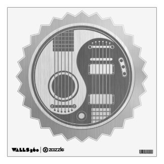 Acoustic Electric Guitars Yin Yang Stainless Steel Wall Stickers