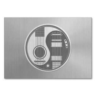 Acoustic Electric Guitars Yin Yang Steel Effect Table Card