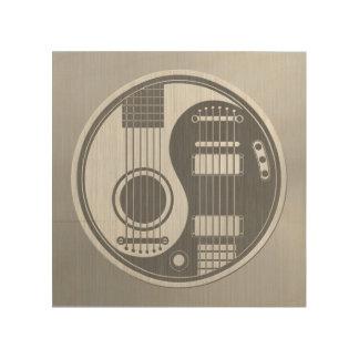 Acoustic Electric Guitars Yin Yang Steel Effect Wood Prints