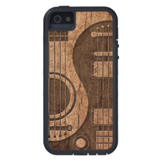 Acoustic Electric Guitars Yin Yang Wood Effect Case For iPhone 5
