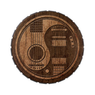 Acoustic Electric Guitars Yin Yang Wood Effect Jelly Belly Candy Tins
