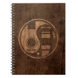 Acoustic Electric Guitars Yin Yang Wood Effect Spiral Notebooks