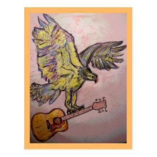 Acoustic Fish Hawk acoustic high Postcard
