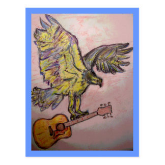 Acoustic Fish Hawk (best wishes) Postcard