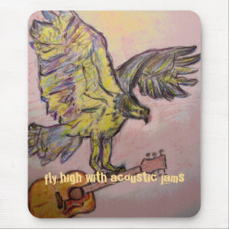 Acoustic Fish Hawk(fly high with acoustic jams) Mouse Pad