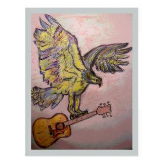 Acoustic Fish Hawk (music high) Postcard
