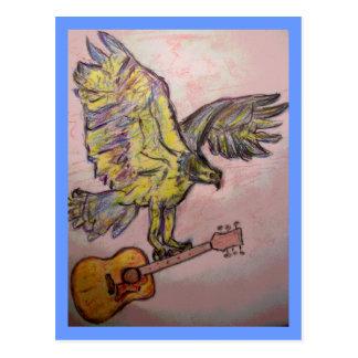 Acoustic Fish Hawk (PeaceLove) Postcard