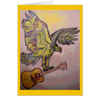 Acoustic Fish Hawk(rock & roll) Card