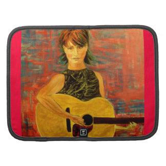 acoustic girl art folio planner