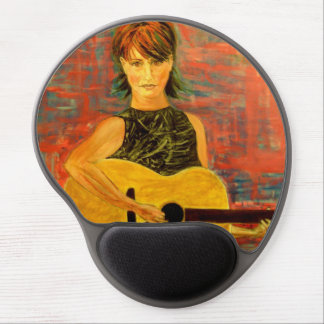 acoustic girl art gel mouse pad