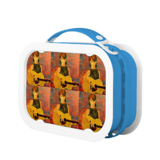 acoustic girl art lunch box