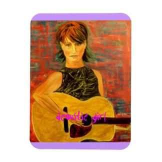 acoustic girl art magnet