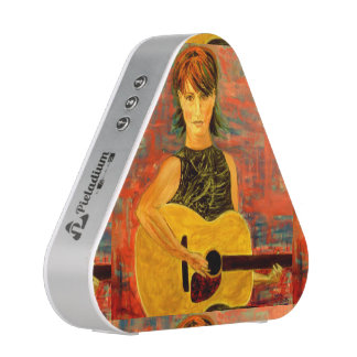 acoustic girl art speaker