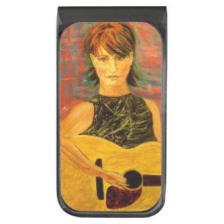 acoustic girl art money clip