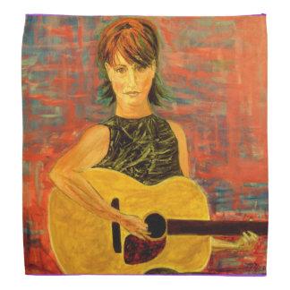 acoustic girl art bandana