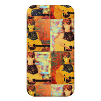 acoustic girl collage iPhone 4 cover