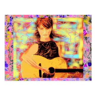acoustic girl drip postcard