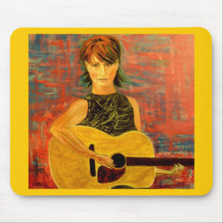 acoustic girl folky mouse pad
