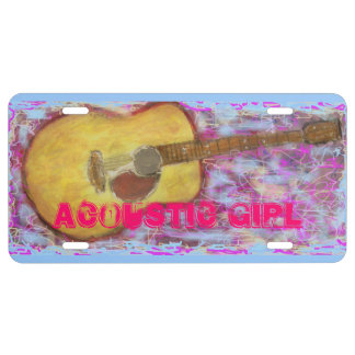 acoustic girl license plate
