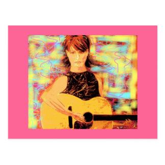 acoustic girl postcard