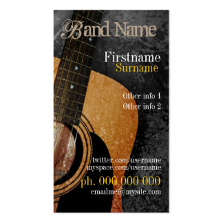 Acoustic Grunge Guitar Music Business card