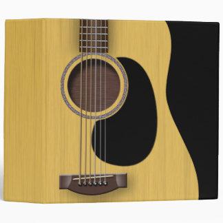 """Acoustic Guitar 2"""" Binder"""