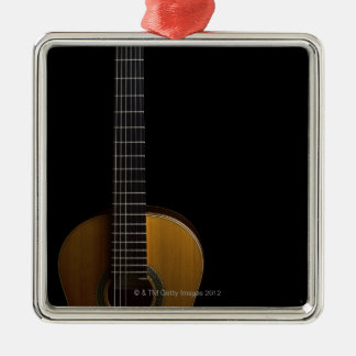 Acoustic Guitar 2 Square Metal Christmas Ornament