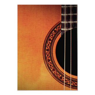 Acoustic Guitar 3.5x5 Paper Invitation Card