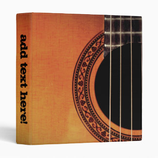 Acoustic Guitar 3 Ring Binder